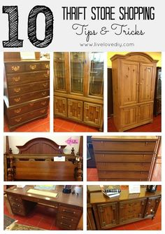 Top 10 Thrift Store Shopping Tips! Shows how to create a really stylish home on a small budget.Great ideas!