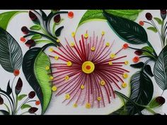 Quilling Flowers Tutorial: Quilling flowers with a comb tutorial. by: Quilling art. - YouTube