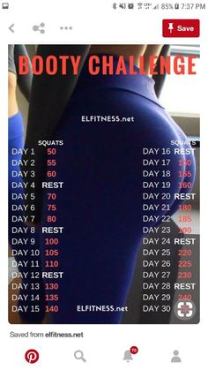 Month Workout, 30 Day Workout Challenge, At Home Workout Plan, At Home Workouts, Butt Workouts, Workout Plans, Workout Exercises, Workout Routines, Bigger Bum Workout