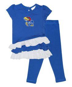 Love this Kansas Jayhawks Ruffle Dress & Pants - Toddler on #zulily! #zulilyfinds