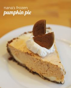 A new must-have Thanksgiving dessert - rich pumpkin pie and vanilla ice cream rolled into one plus a spicy gingersnap crust!