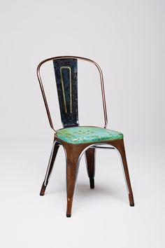 Gorgeously oxidized Tolix chair by Lex Pott   sightunseen.com