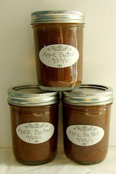 Homemade Apple Butter. Love Apple Butter!