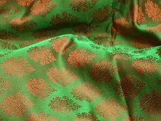 1.5 meter Green Indian Jacquard Brocade Wedding Dress Fabric | Etsy Dupioni Silk Fabric, Brocade Fabric, Jacquard Fabric, Bridal Fabric, Wedding Fabric, Wedding Dress, Yard Wedding, Bridesmaid Dress, Pillow Fabric