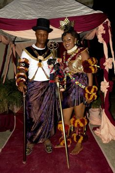 efik couple at their traditional wedding ceremony