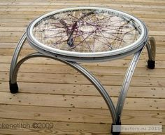 diy furniture upcycle 17 Ways to Upcycling A Bicycle - Giddy Upcycled, Bicycle Rims, Bicycle Decor, Bicycle Wheel, Bicycle Art, Bike Wheels, Bicycle Crafts, Repurposed Furniture, Diy Furniture, Farmhouse Furniture