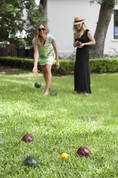 Dinner party games for thinkers. Bocce ball. (Ideas for Humble Intellectual Thinking Retreats hosted by MariahM.com)