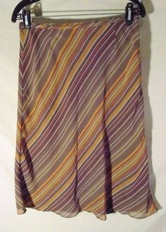"NEW Nine & Company Pencil Skirt Striped Retro Style Diagonal Stripe-8 x 26"" Long #NineCo #StraightPencil"