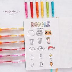 Master Your Bullet Journal Doodles Masha ( little tutorial for simple doodles you can have in your Bullet Journal Bullet Journal 2019, Bullet Journal Ideas Pages, Bullet Journal Inspiration, Doodle Art For Beginners, Easy Doodle Art, Doodle Doodle, Simple Doodles, Cute Doodles, Doodles How To