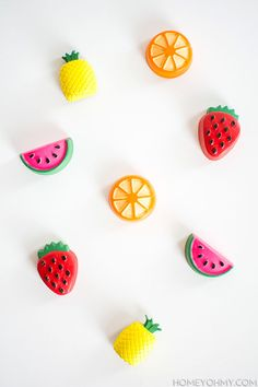 DIY Fruit Magnets