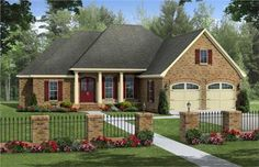 This set of Country Home Plans has a very European accent that gives some credibility to the design