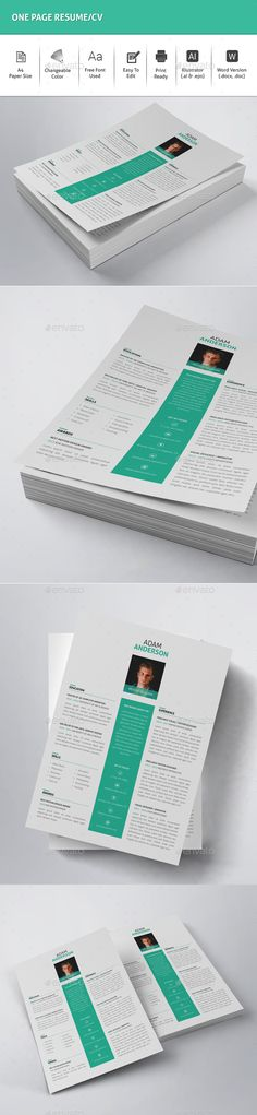 One Page Resume/CV