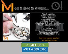 Minutes is offering a much wider range of products and services such as Engraving, Mobile Repair and watch repair in Dubai, Sharjah UAE.