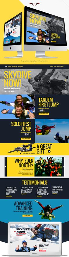 Eden North Skydiving Website Design Joseph Kiely