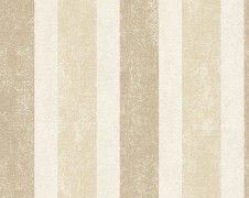 off on Schöner Wohnen non-woven wallpaper beige brown Home Design 2017, House Design, Tapete Beige, Pattern Wallpaper, Curtains, Brown, Diy, Candle, Striped Wallpaper