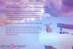 Get organized and get it all done -> http://www.virtualgalfriday.com