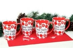 Dear Santa Ceramic Jumbo Mug Set of Four #hiddentreasuresdecorandmore