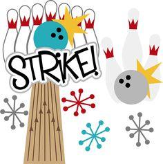 Strike! SVG scrapbook files bowling svg files for scrapbooking bowling svg cut files free svgs