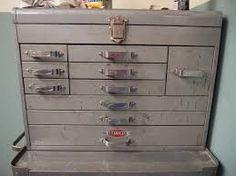 Bildergebnis für Images of Vintage Craftsman Toolbox - Mode Designer Antique Tools, Vintage Tools, Mechanic Tool Box, Maker Shop, Tool Storage, Cool Tools, Carpentry, Planer, Metal Working