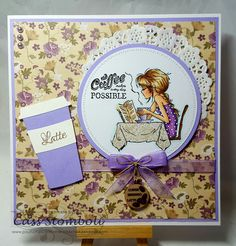 Coffee by Rockchick - Cards and Paper Crafts at Splitcoaststampers Coffee Cards, Digi Stamps, Lily Of The Valley, Funny Cards, Adult Coloring Pages, I Card, Cardmaking, Birthday Cards, Paper Crafts