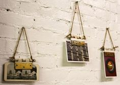Turn a Door Hinge Into a Picture Hanger (Easiest Project Ever) | DIY Network Blog: Made + Remade >> http://www.diynetwork.com/made-and-remade/make-it/how-to-turn-a-door-hinge-into-a-picture-hanger?soc=pinterest
