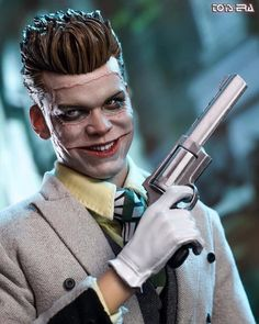"Toy's Era has come out with a Jerome Valeska 2.0 ""THE LAUGHTER"" figure! Out for release in 2019! Check Toys Era Facebook for more details!… Jerome Valeska Joker, Cameron Monaghan Gotham, Jerome Gotham, Gotham Joker, Joker Poster, Comic Villains, Batman Universe, Aesthetic Boy, Chucky"