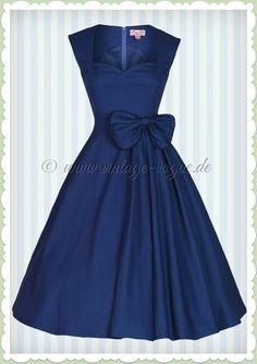 Lindy Bop 50er Jahre Rockabilly Petticoat Kleid - Grace - Dunkelblau a4021e3e35