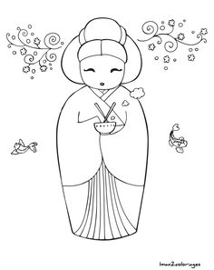 Awesome Most Popular Embroidery Patterns Ideas. Most Popular Embroidery Patterns Ideas. Embroidery Patterns, Hand Embroidery, Quilt Patterns, Machine Embroidery, Coloring Pages For Girls, Colouring Pages, Coloring Books, Asian Quilts, Kokeshi Dolls
