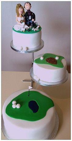 golf themed wedding cake  Cake by cakemakesaparty