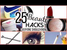 25 BEAUTY HACKS EVERY GIRL SHOULD KNOW?! - YouTube