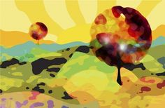 Hillside+Birds+at+FramedArt.com