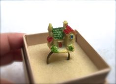 Miniature House Ring. Resin Ring. Cute Kawaii by MintMarbles