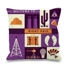 Night Vale Scene Pillowcases Pillow Cases This pillow cover made from high quality drapery weight 50% cotton fabric and 50% Polyester with hidden zipper closure. All seams are surged to prevent frayin