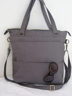 Sewing Inspiration: Tote cotton canvas shoulder bag (Etsy)