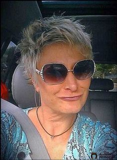 Short Spiky Hair for Older Women Short Spiky Hairstyles, Older Women Hairstyles, Easy Hairstyles, Fine Hair Cuts, Short Hair Cuts, Short Hair Styles, Peinados Pin Up, Cut And Color, Hair Trends