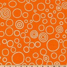 playroom... 54'' Wide Premier Prints Circles Tennessee Orange Fabric By The Yard