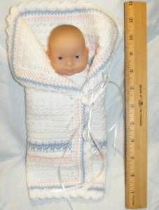 *Free crochet PatternL  Sweet William's Angel Wrap for Preemies