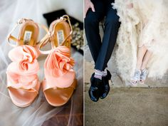 Not the shoes but the look of the photo on the right … and of course the grooms socks :)