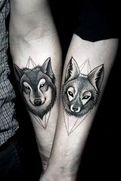 Best Couple Matching Tattoo collection of 2018 from our goose tattoo shop. couple matching tattoo designs for you. Wolf Tattoos, Animal Tattoos, Body Art Tattoos, New Tattoos, Tattoo Ink, Swag Tattoo, Tattoo Fonts, Trendy Tattoos, Tattoos For Women
