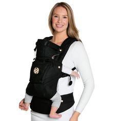 7cd69f42832 Lillebaby Complete Embossed Luxe Baby Carrier - Noir (Black with Gold).  Plushbottom Boutique