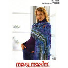 crochet pattern - zigzag wrap