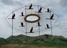 Enchanted Highway sculpture in North Dakota - the worlds largest scrap metal sculpture!