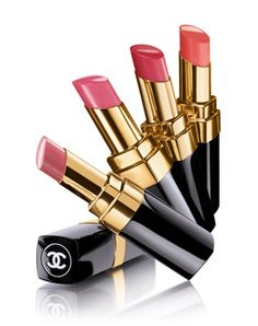 Rouge Coco Lip Shine...CHANEL!  Beautiful colors and long lasting.    	  ROU