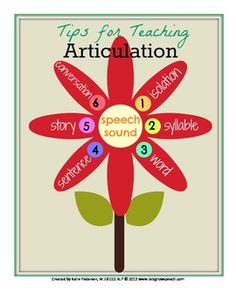 Tips for Teaching Articulation FREEBIE #TpT