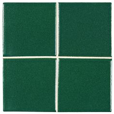 "Complete Tile Collection McIntones Ceramics, Hunter Green 3"" x 3""  Field Tile, MI#: 148-C1-314-030, Color: Hunter Green"