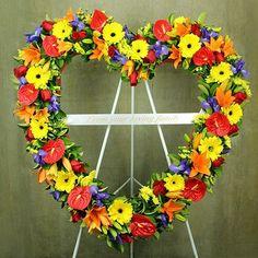 Floral Heart Sympathy Tribute
