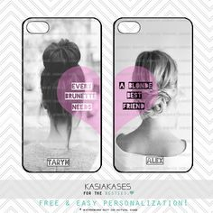 BFF-Case / blond und brünett iPhone 4 Case Best Friends iPhone