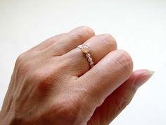 Anillo de diamantes de imitación del ópalo vintage. por PetitBlue