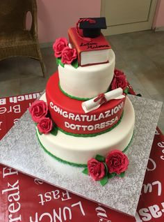#laurea #graduation #cake