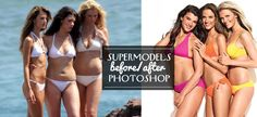victoria's secret before and after photoshop   Supermodels Before & After Photoshop   THE ILLUSIONISTS - a ...